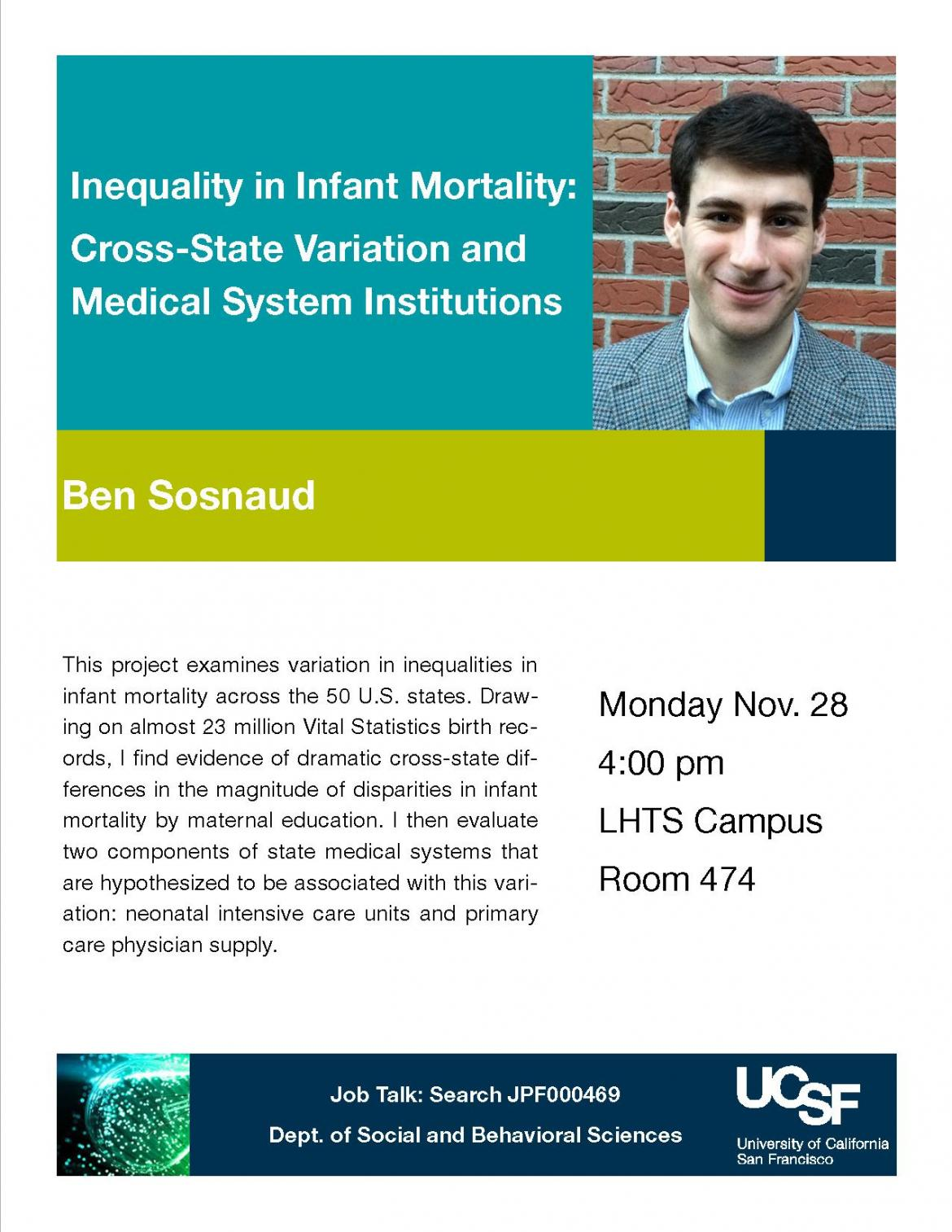Sbs Job Talk Inequality In Infant Mortalitycross State Variation